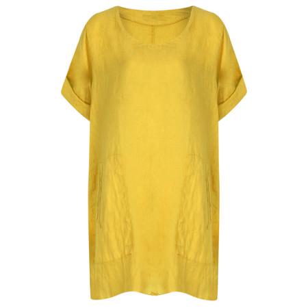 TOC  Bertie Linen Tunic Top - Yellow