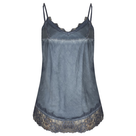 TOC  Sofia Silk and Lace Cami Top - Blue