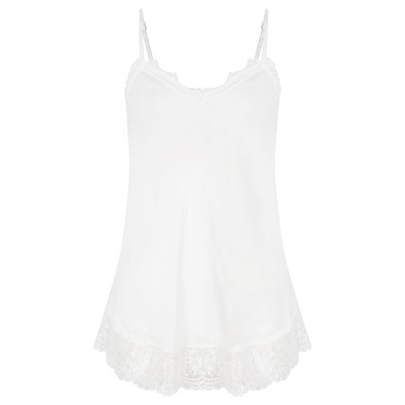 TOC  Sofia Silk and Lace Cami Top - White