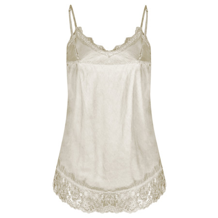 TOC  Sofia Silk and Lace Cami Top - Brown