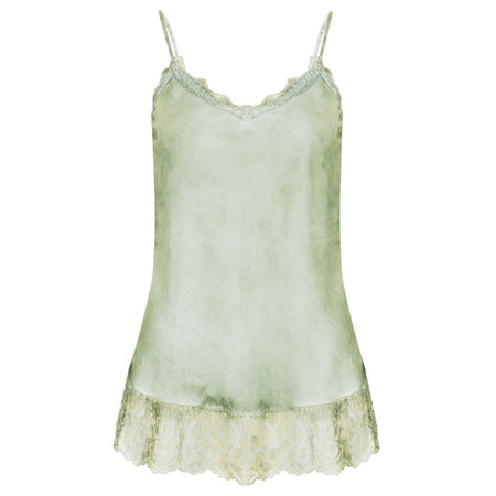 TOC  Sofia Silk and Lace Cami Top - Green