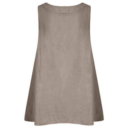 TOC  Becci Linen Silk Sleeveless Top - Brown