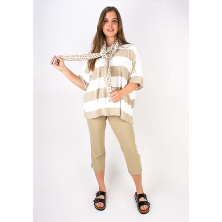 Masai Clothing Geometric Print Along Scarf - Brown