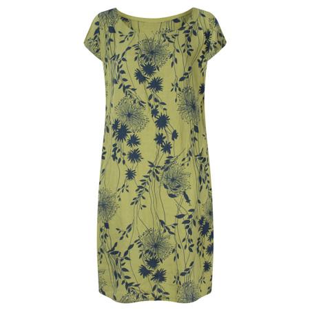 TOC  Daisy Printed Linen Dress  - Green