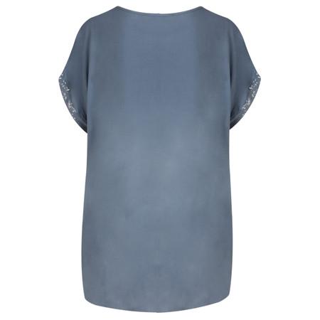 TOC  Betsy Sequin Trim Top - Blue