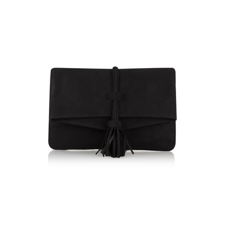 Unisa Shoes Zbitia Suede Bag with Tassel - Black