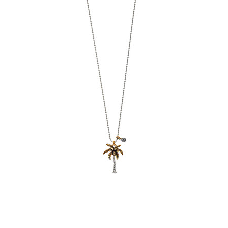 Hult Quist  Palm Tree Short Necklace - Silver/gold