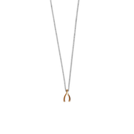 Hult Quist  Wishbone Short Necklace - Metallic
