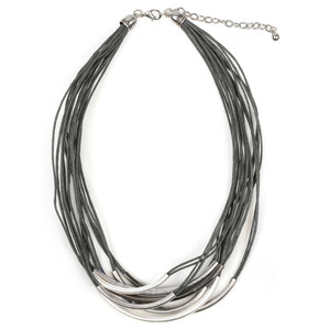 Eliza Gracious Abbey2 Multi Cord Tube Necklace