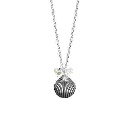 Hult Quist  Seashell Long Necklace - Metallic