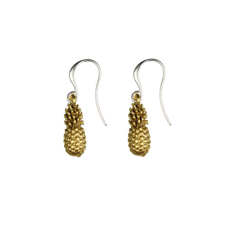 Hult Quist  Pineapple Earrings - Gold