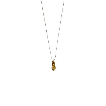 Hult Quist  Pineapple Short Necklace - Silver/gold
