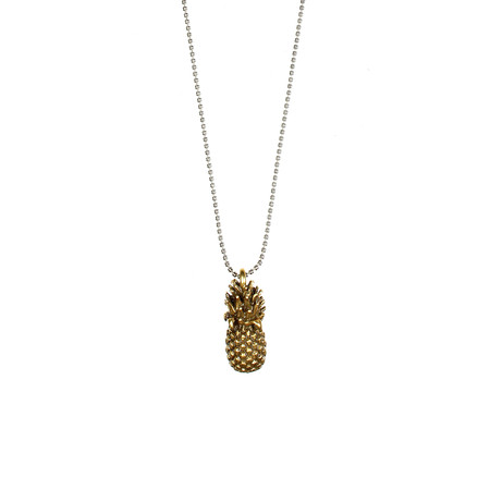 Hult Quist  Pineapple Long Necklace - Metallic