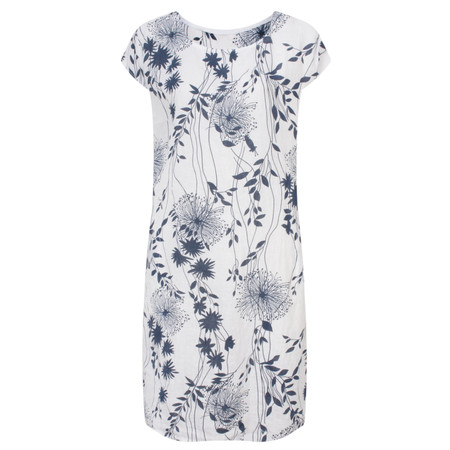 TOC  Daisy Printed Linen Dress  - White