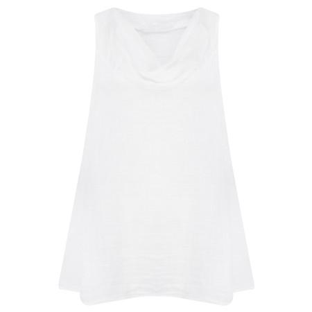 TOC  Becci Linen silk sleeveless top - White