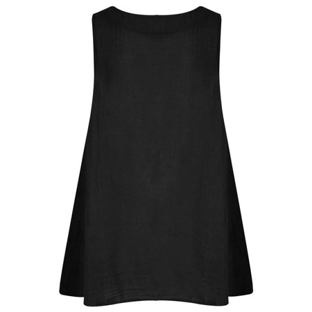 TOC  Becci Linen silk sleeveless top - Black