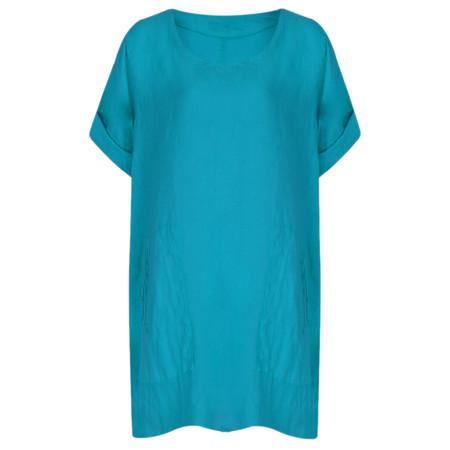 TOC  Bertie Linen Tunic Top - Blue