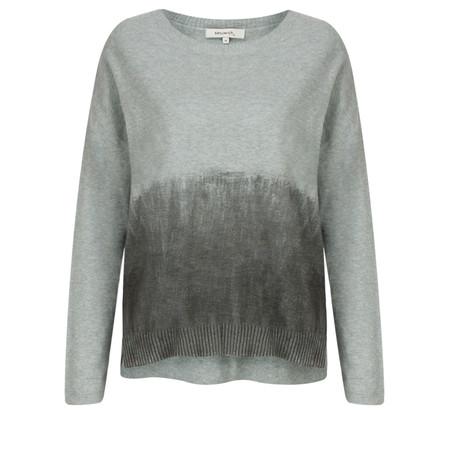 Sandwich Clothing Brush Print Long Sleeve Pullover - Grey