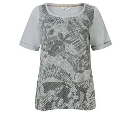 Sandwich Clothing Printed Short Sleeve T-shirt - Grey