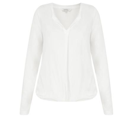 Sandwich Clothing Draped Viscose Blouse - White