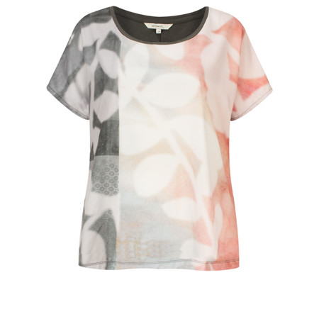 Sandwich Clothing Contrast Top With Print - Pink