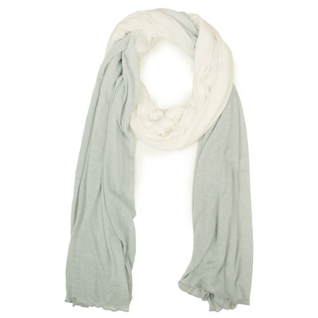 Sandwich Clothing Two Tone Woven Scarf  - Grey