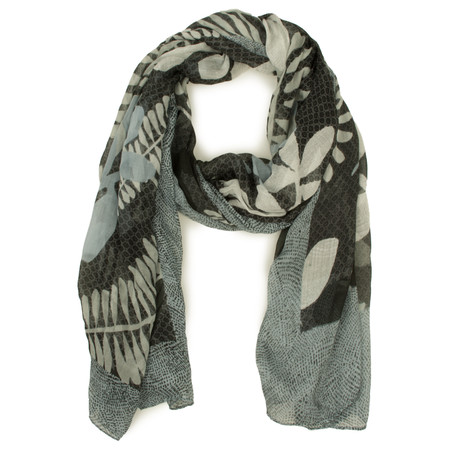 Sandwich Clothing Printed Woven Scarf - Grey