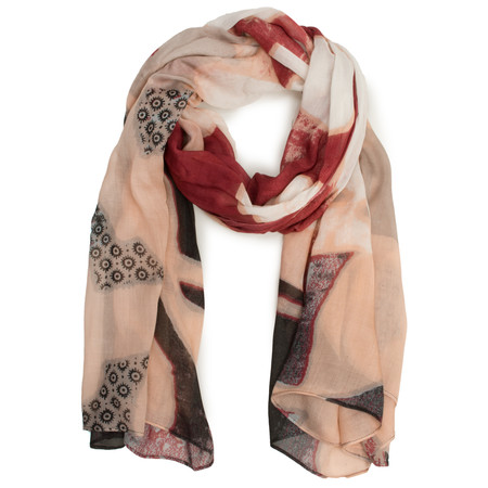 Sandwich Clothing Printed Weave Scarf - Grey