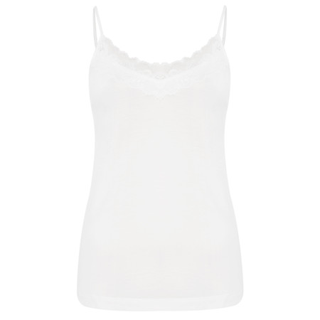 Sandwich Clothing Lace Jersey Cami Top - White