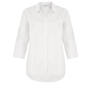 Sandwich Clothing Stretch Three Quarter Sleeve White Shirt