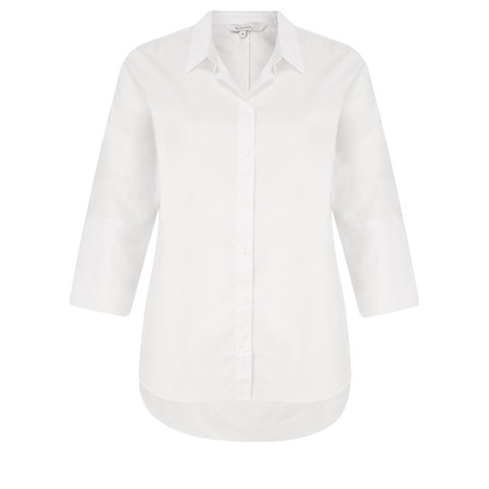 Sandwich Clothing Stretch Three Quarter Sleeve White Shirt - White