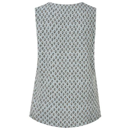 Sandwich Clothing Tiger Dot Print Sleeveless Blouse - Grey