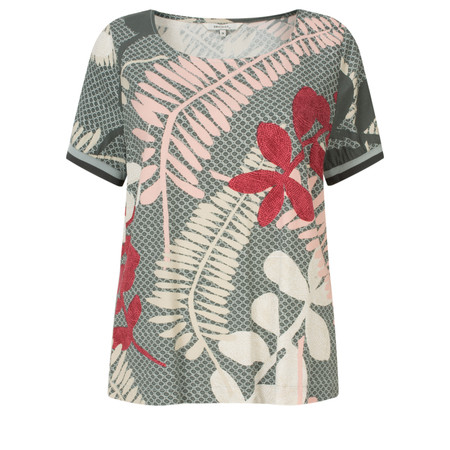 Sandwich Clothing Printed Woven Top - Grey