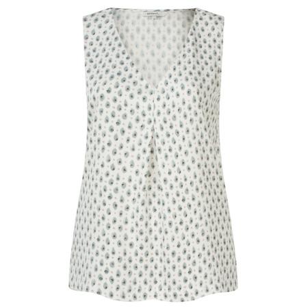 Sandwich Clothing Tiger Dot Print Sleeveless Blouse - White