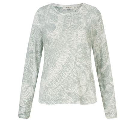 Sandwich Clothing Cotton Printed Long Sleeve Pullover - White