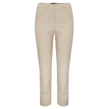Robell Trousers Bella 7/8 Cropped Trouser  - Brown