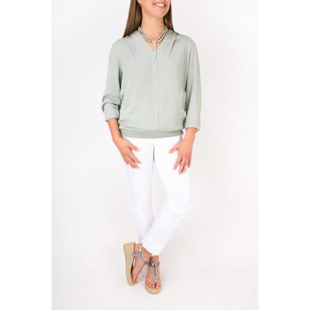 Sandwich Clothing Flowy Long Sleeve Blouse - Grey