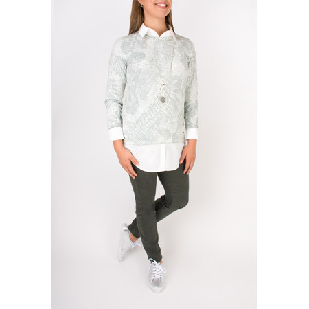 Sandwich Clothing Stretch Long Sleeve Shirt - White