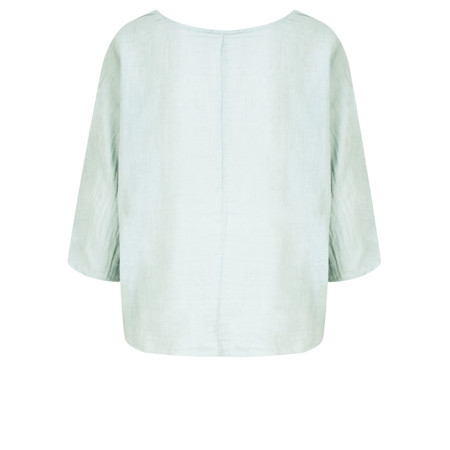 TOC  Billie Linen East Fit Top - Blue