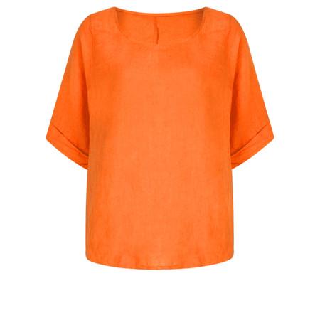 TOC  Bettina Linen  Top - Orange