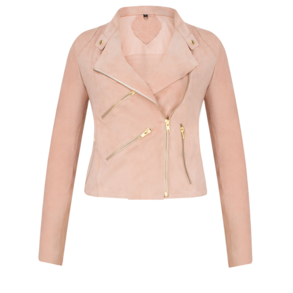 Fab By Danie Paris Suede Jacket Baby Pink