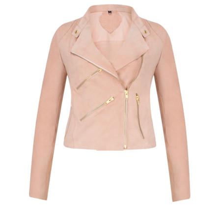 Fab By Danie Paris Suede Jacket - Pink