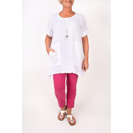 TOC  Bertie Linen Tunic Top - White