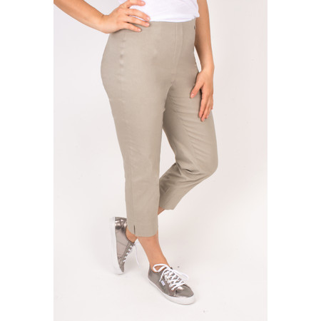 Robell Trousers Marie 07 Cropped Trouser - Beige