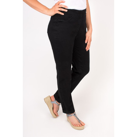Robell Trousers Bella Slim Fit Full Length Jean - Black