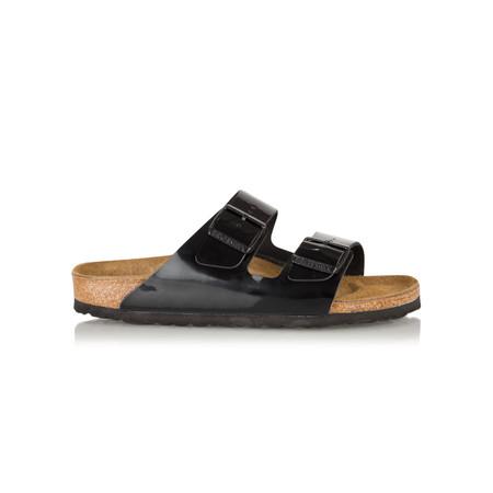 Birkenstock Arizona Birko Flor Patent Sandal - Black