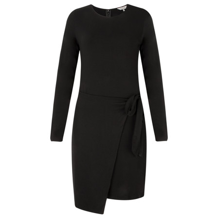 Great Plains Lucky Lycra Side Tie Dress - Black