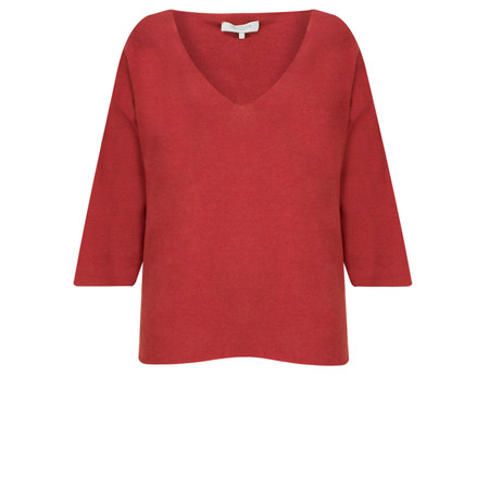 Great Plains Kitten Play V Neck Slouch Knitted Top - Pink
