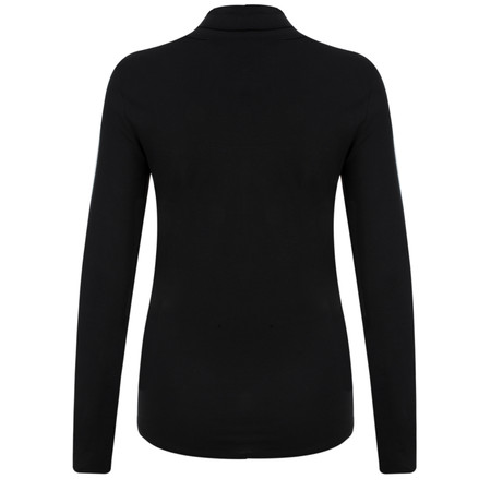Great Plains Sudbury Stretch Polo Neck Top - Black
