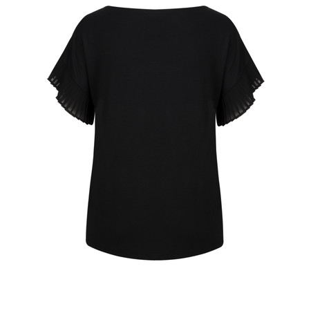 Great Plains Sudbury Stretch Pleated Sleeve Top - Black
